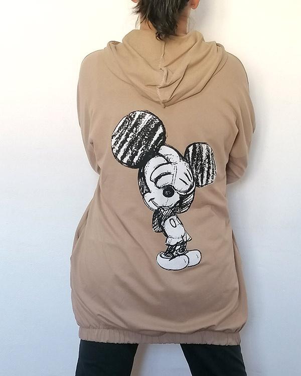 Sudadera-Larga-Mickey-Mouse-camel