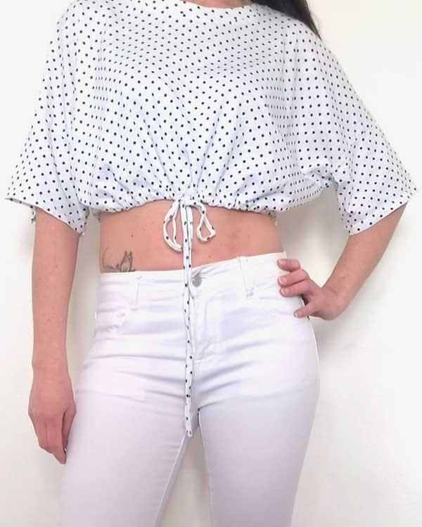 Camiseta Corta Lunares